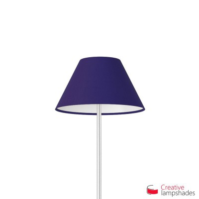 Chinese lampshade with Blue Canvas covering