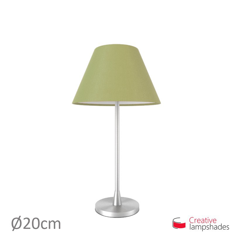 Chinese lampshade with Olive Green Canvas covering