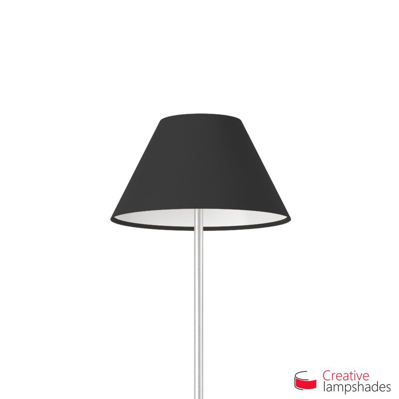 Chinese lampshade with Black Canvas covering