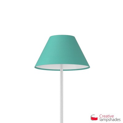 Chinese lampshade with Turquoise Cinette covering
