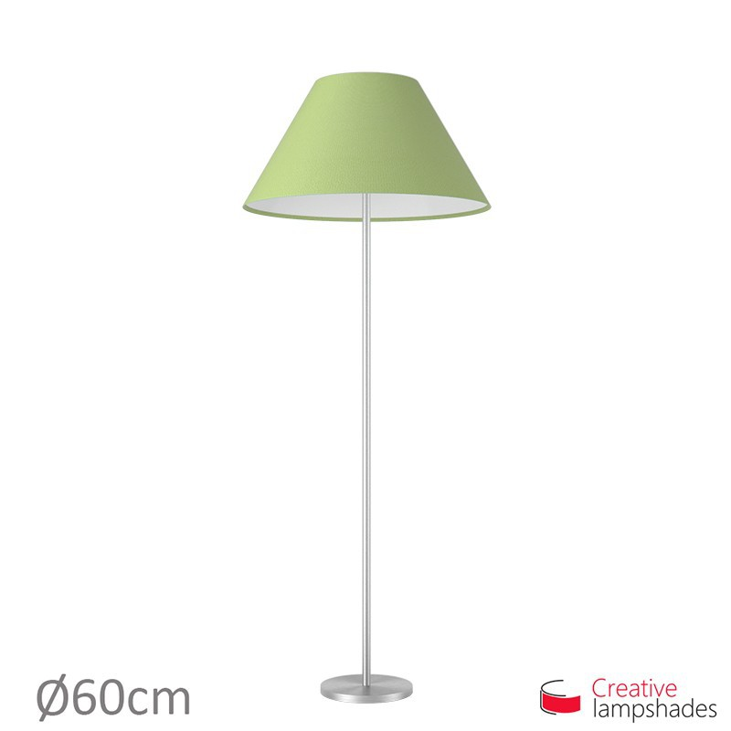 Chinese lampshade with Pistachio Green Cinette covering