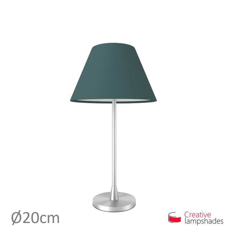 Chinese lampshade with Petrol Blue Cinette covering