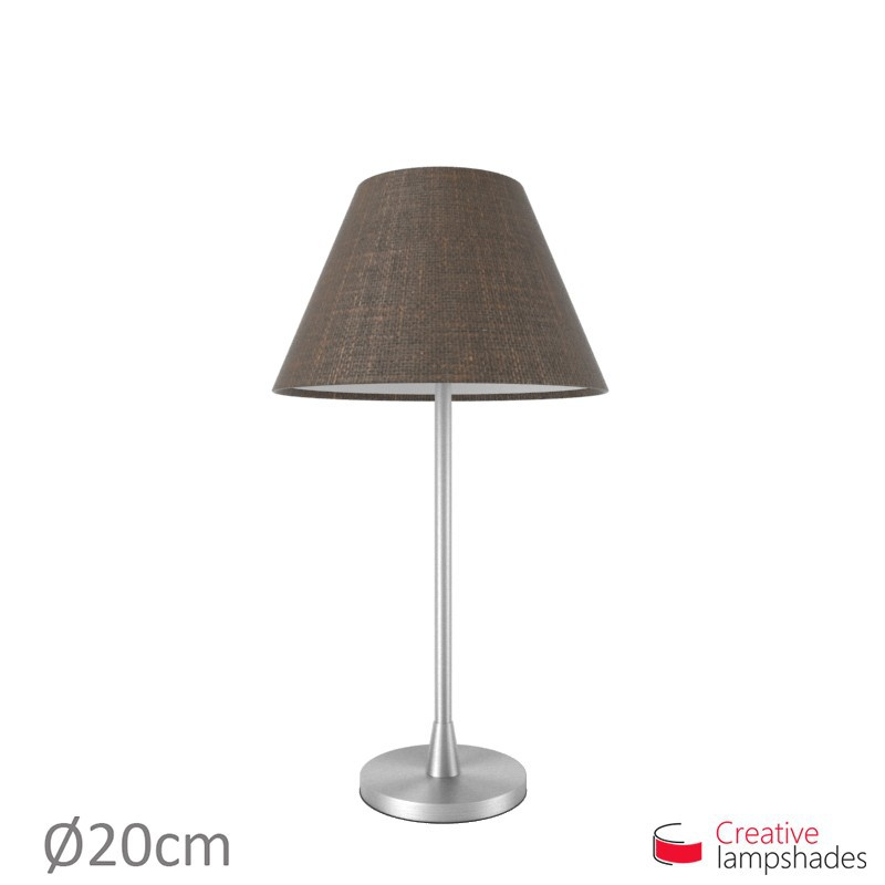 Chinese lampshade with Brown Camelot covering