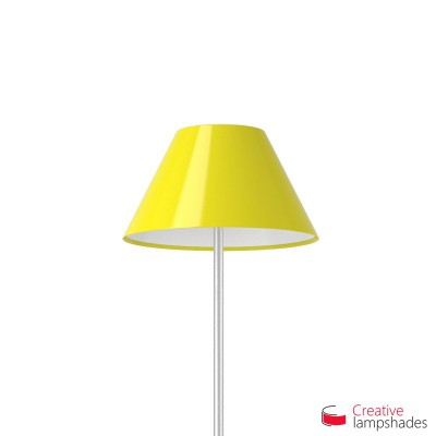 Chinese lampshade with Yellow Lumiere covering