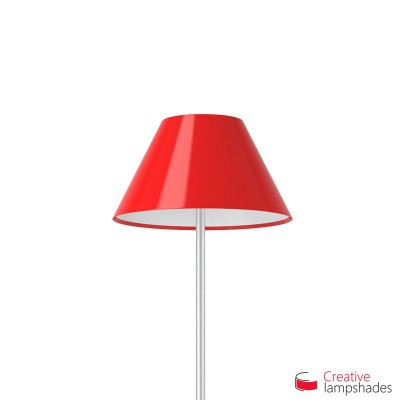 Chinese lampshade with Red Lumiere covering