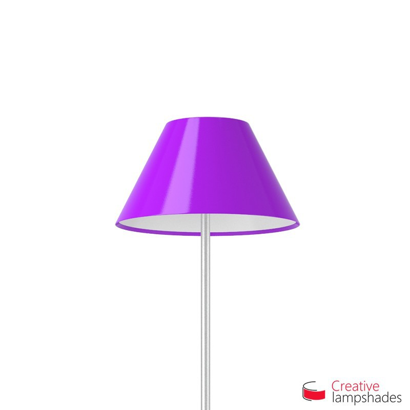 Chinese lampshade with Violet Lumiere covering