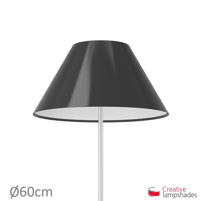 Chinese lampshade with Black Lumiere covering