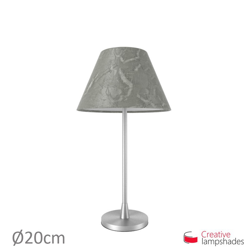 Chinese lampshade with Silver Persia covering