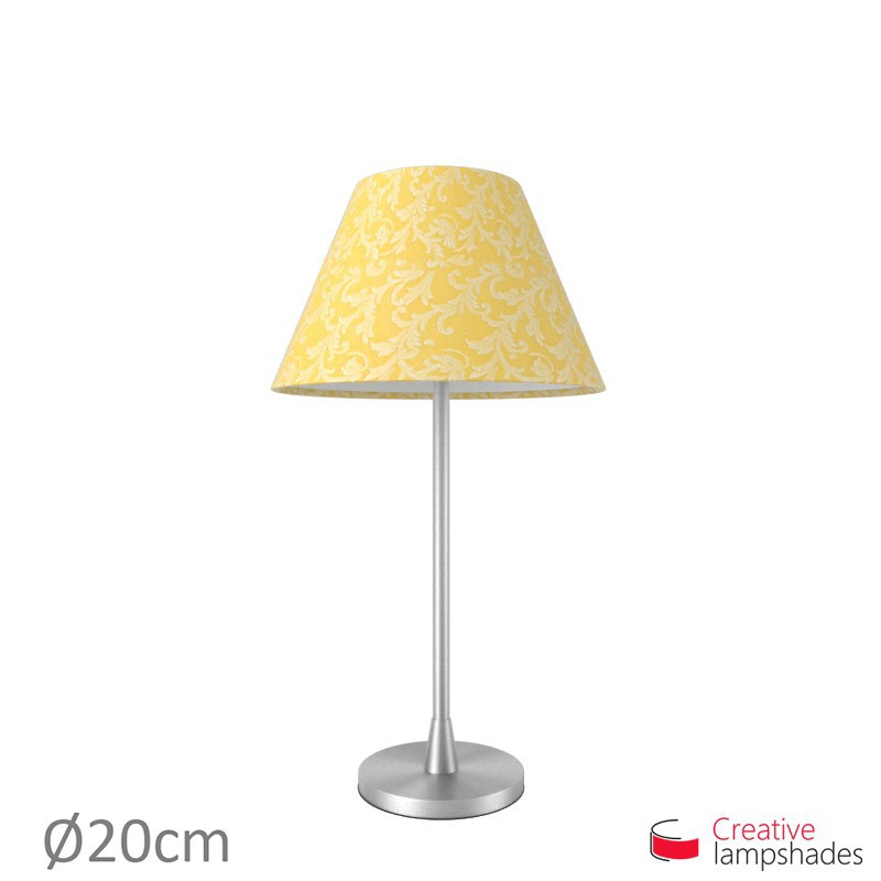 Chinese lampshade with Golden Yellow Damascus covering