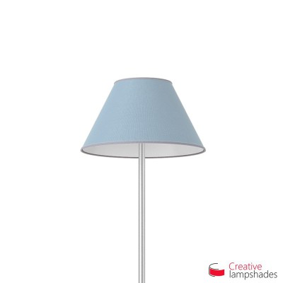 Chinese lampshade with Heavenly Blue Jute covering