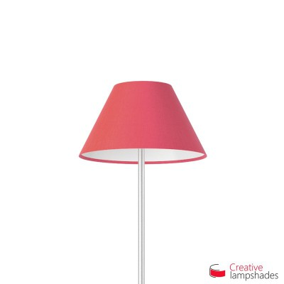 Chinese lampshade with Fuchsia Pink Canvas covering