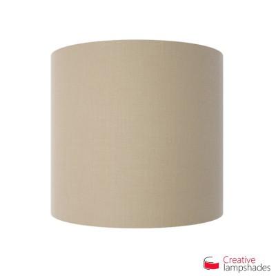 Wand Lampenschirm Zylinder halbrund ink Anschlussdose (Aufputz) Haselnuss Leinwand Bezug