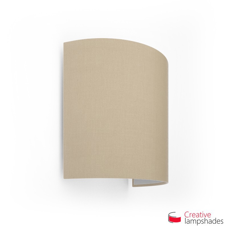 Half Cylinder Wall Lampshade Hazel Canvas covering with  box