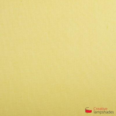 Wand Lampenschirm Zylinder halbrund ink Anschlussdose (Aufputz) Hellgelb Leinwand Bezug