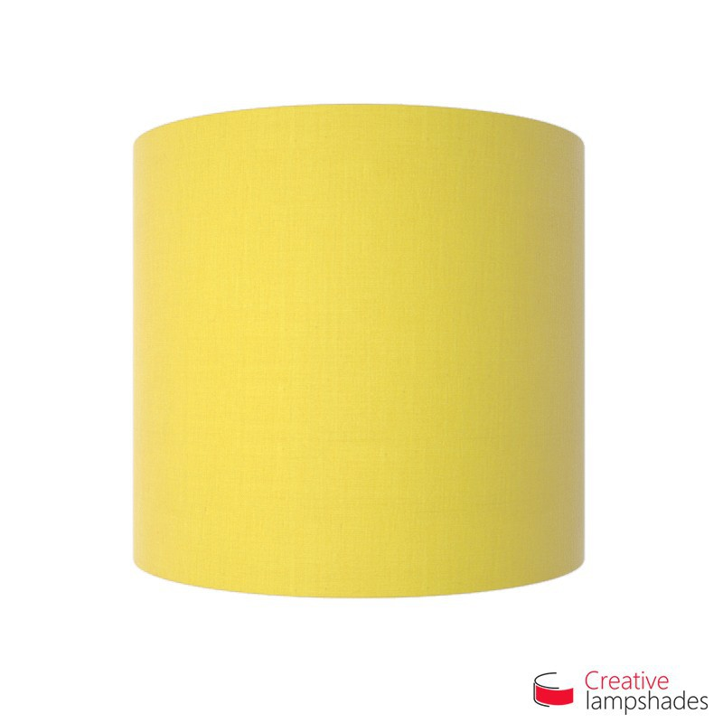Half Cylinder Wall Lampshade Bright Yellow Canvas covering with  box