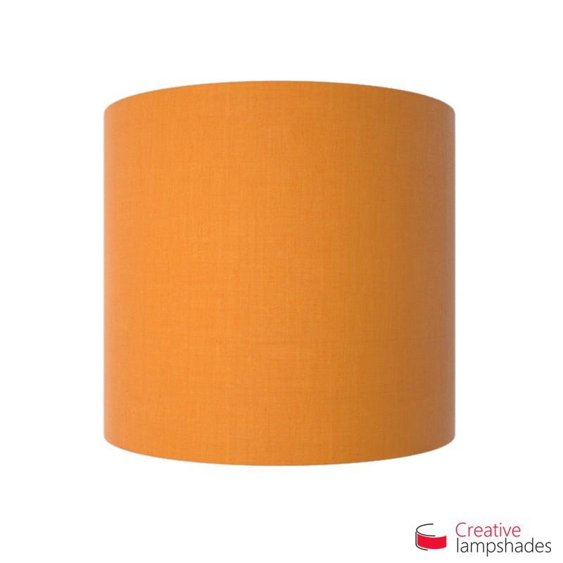 Half Cylinder Wall Lampshade Mandarine Orange Canvas covering with  box