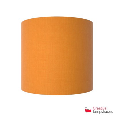 Half Cylinder Wall Lampshade Mandarine Orange Canvas covering with  box