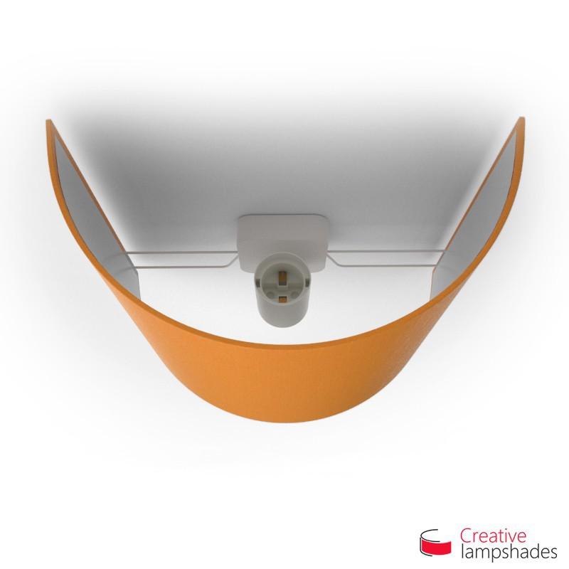 Paralume Ventola Cilindrica a parete con Scatolina Teletta Mandarino