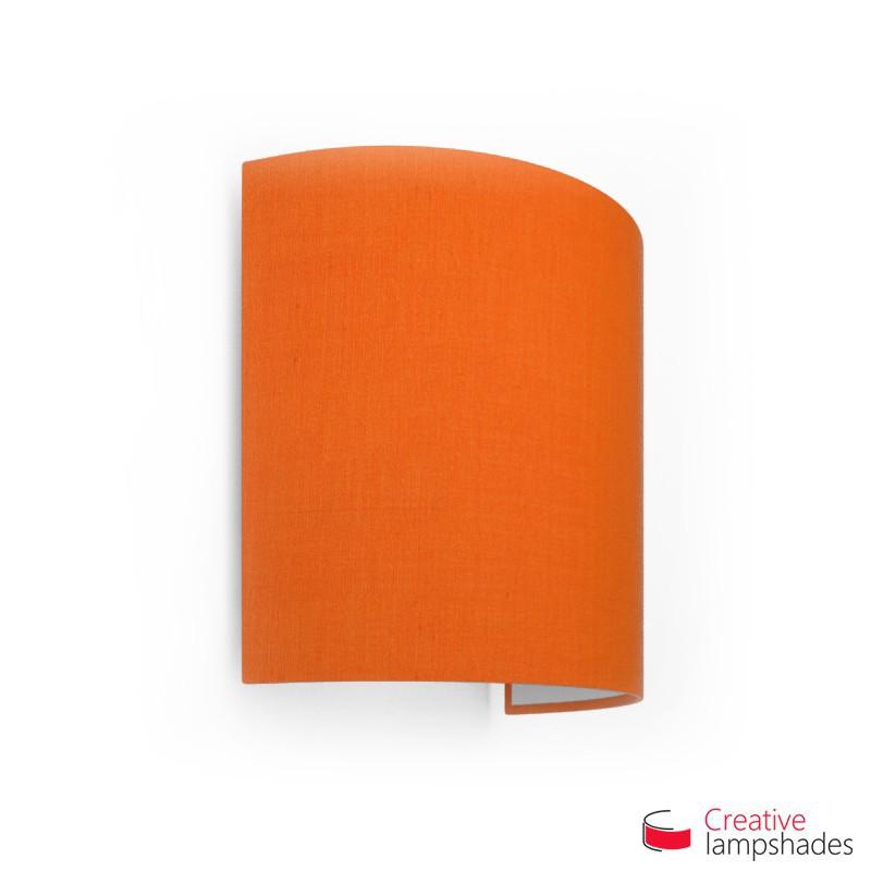 Paralume Ventola Cilindrica a parete con Scatolina Teletta Arancio