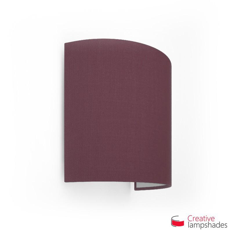 Wand Lampenschirm Zylinder halbrund ink Anschlussdose (Aufputz) purpurviolett Leinwand Bezug