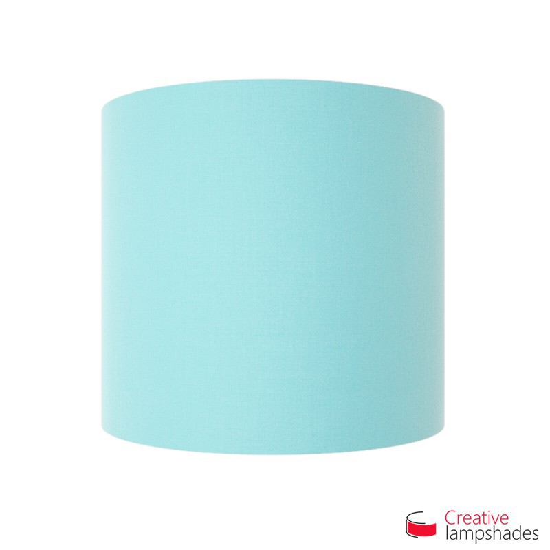 Half Cylinder Wall Lampshade Heavenly Blue Canvas covering with  box