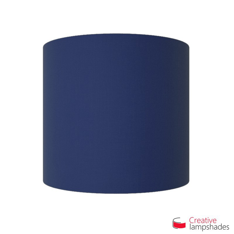 Wand Lampenschirm Zylinder halbrund ink Anschlussdose (Aufputz) marineblau Leinwand Bezug