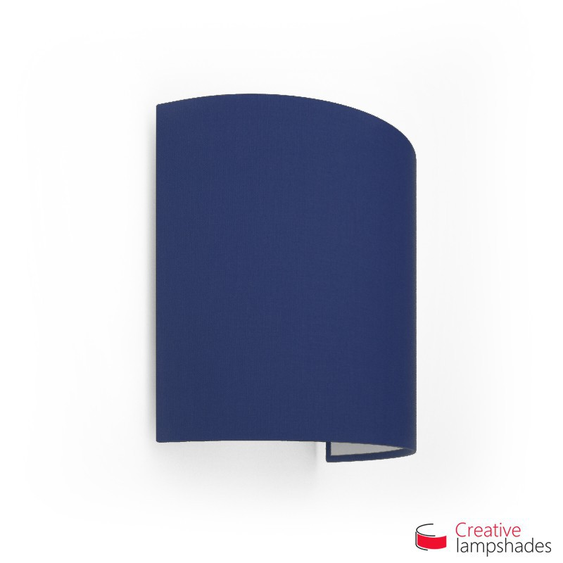 Half Cylinder Wall Lampshade Blue Canvas covering with  box