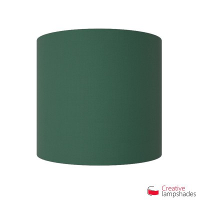Half Cylinder Wall Lampshade Dark Green Canvas covering with  box