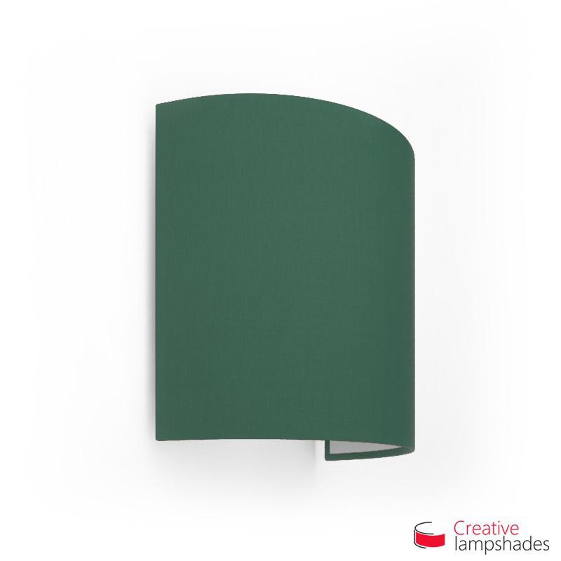 Paralume Ventola Cilindrica a parete con Scatolina Teletta Verde Scuro