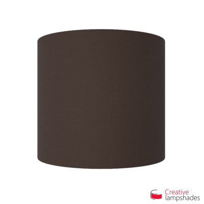 Half Cylinder Wall Lampshade Brown Canvas covering with  box