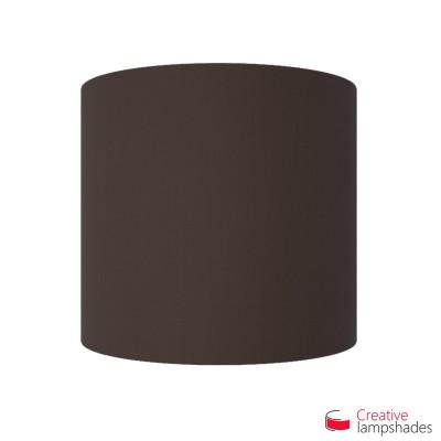 Pantalla con aplique de pared cilíndrica con caja eléctrica recubrimiento Tela Marrón