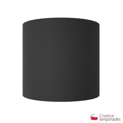 Wand Lampenschirm Zylinder halbrund ink Anschlussdose (Aufputz) schwarz Leinwand Bezug