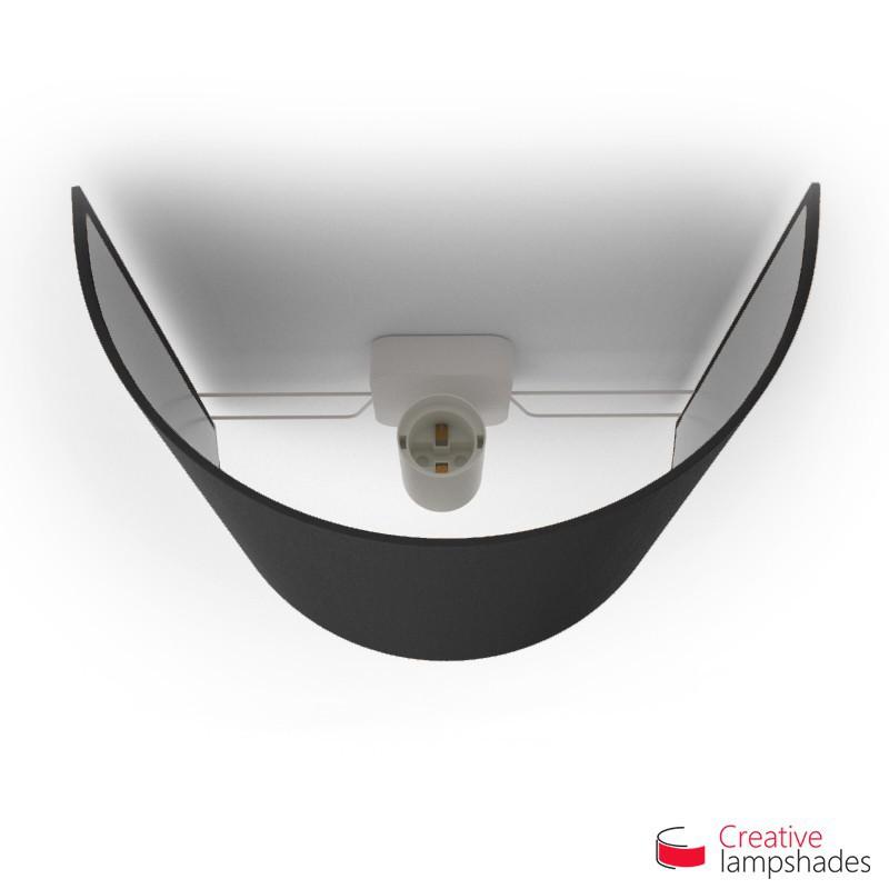 Paralume Ventola Cilindrica a parete con Scatolina Teletta Nero