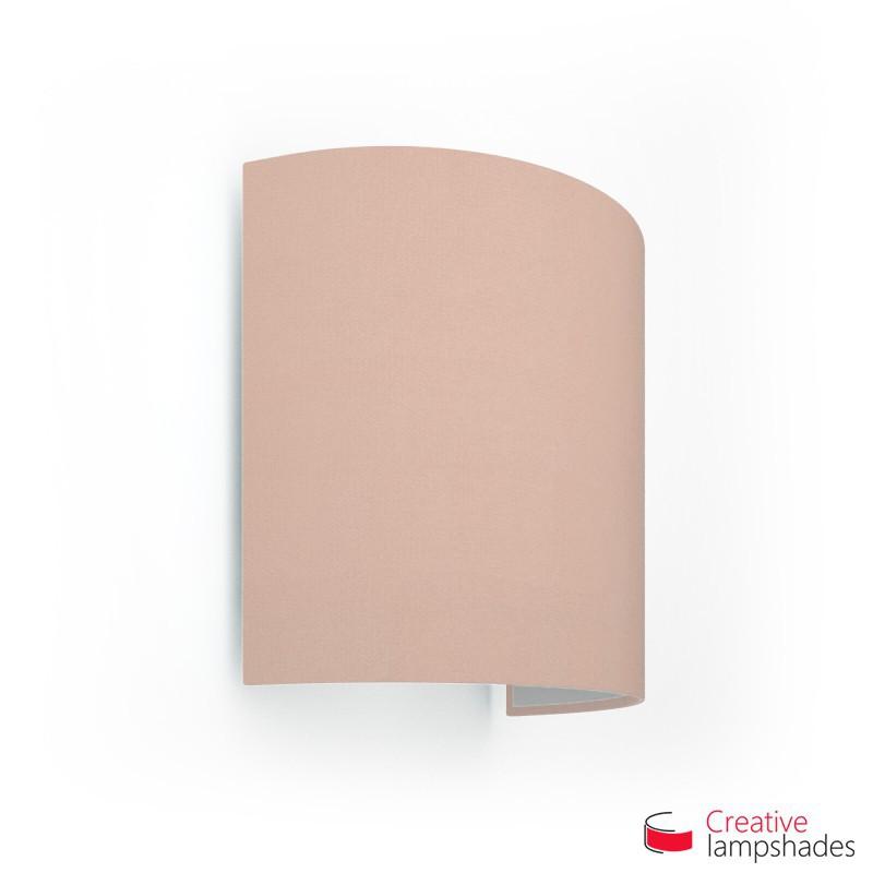 Paralume Ventola Cilindrica a parete con Scatolina Cinette Rosa Antico