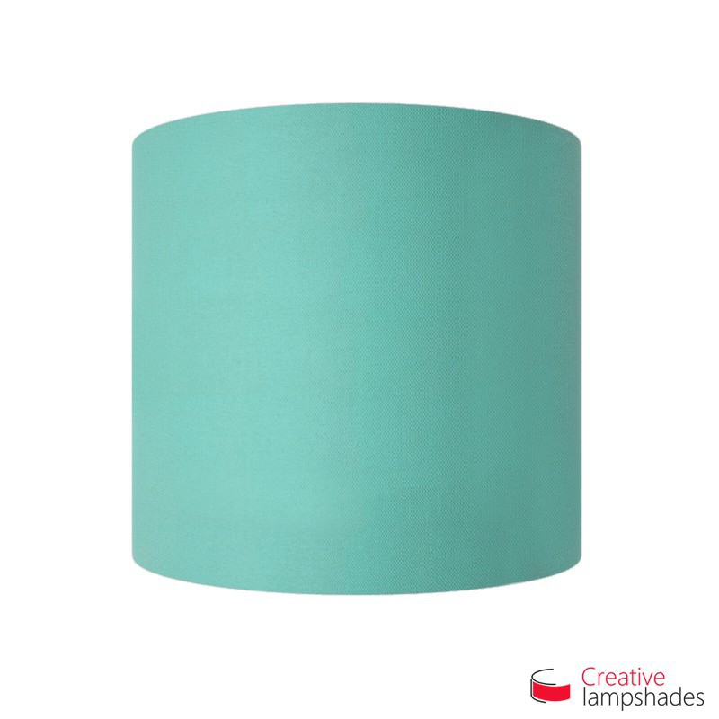 Half Cylinder Wall Lampshade Turquoise Cinette with  box