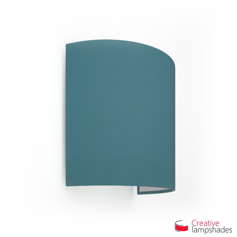 Half Cylinder Wall Lampshade Blue Cinette with  box