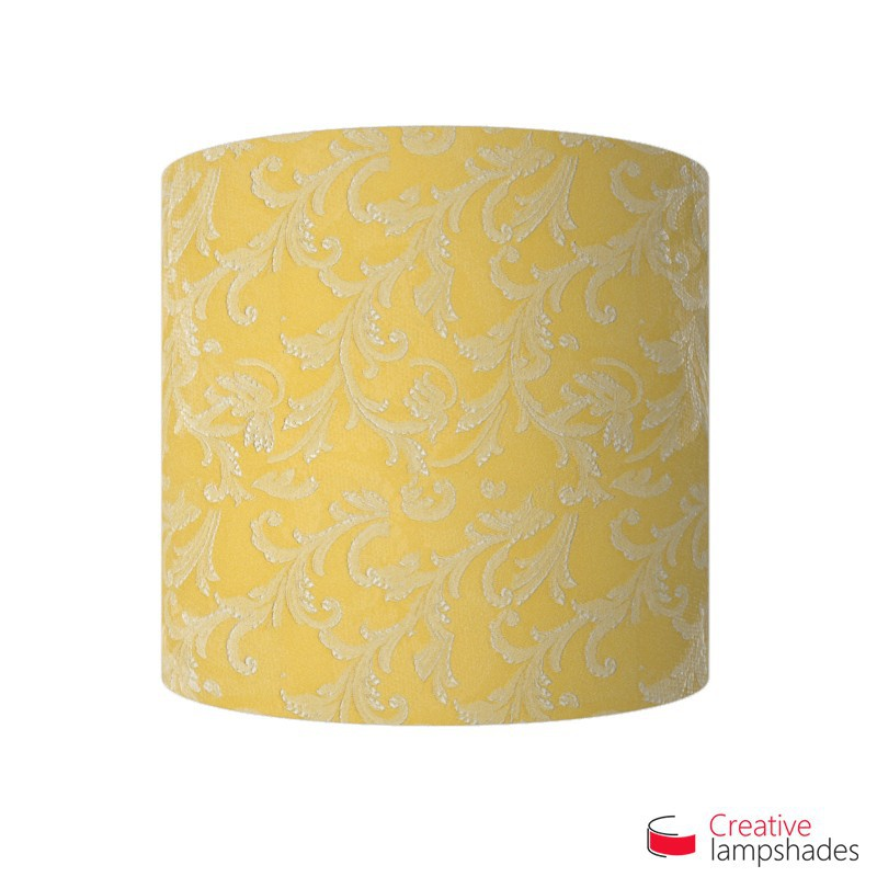 Half Cylinder Wall Lampshade Golden Yellow Damascus with  box