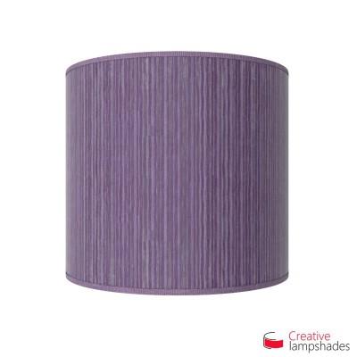 Pantalla con aplique de pared cilíndrica con caja eléctrica recubrimiento Organdí Plisado Púrpura