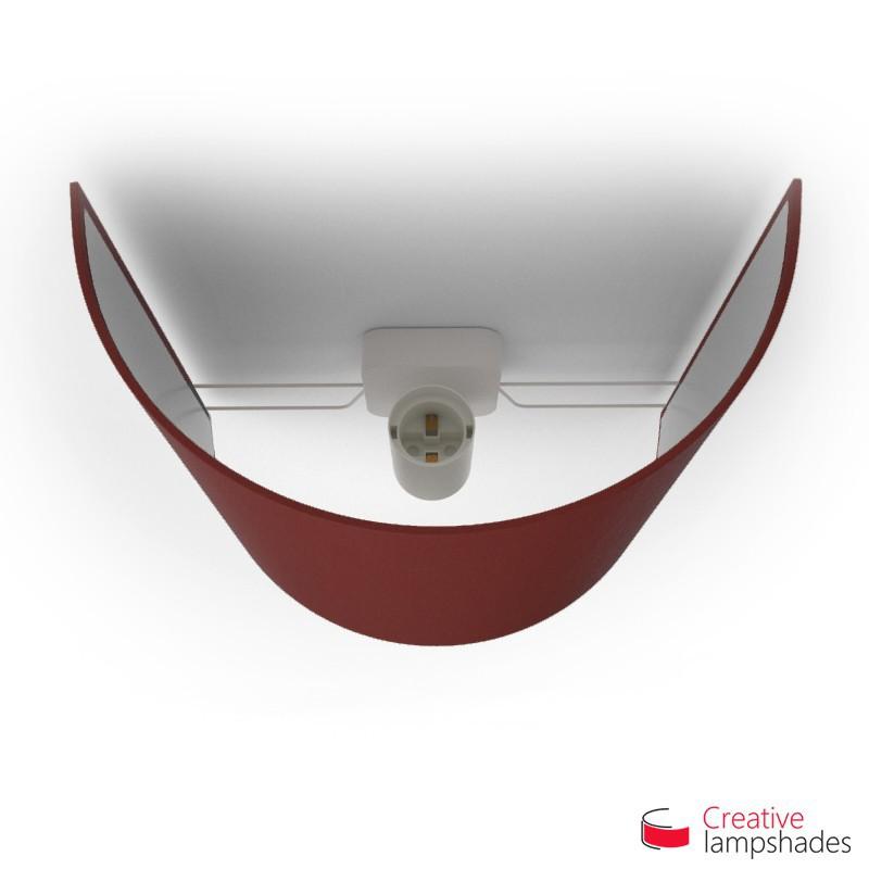 Pantalla con aplique de pared cilíndrica con caja eléctrica recubrimiento Tela Burdeos