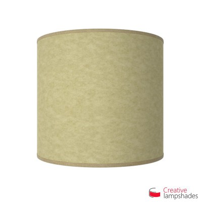 Half Cylinder Wall Lampshade Light Yellow Parchment with  box
