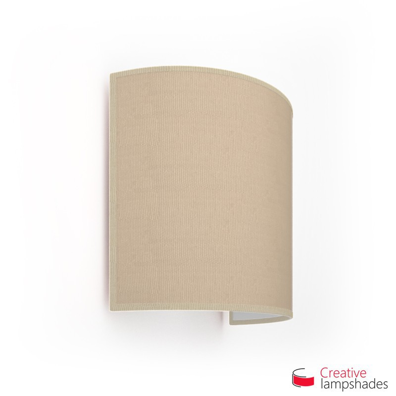 Half Cylinder Wall Lampshade Natural Jute with  box