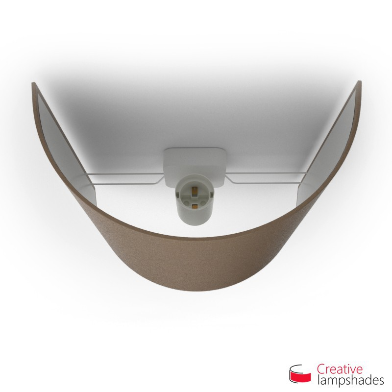 Half Cylinder Wall Lampshade Grey Arenal with  box