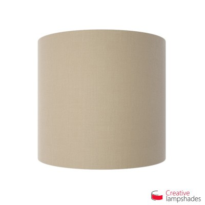 Half Cylinder Wall Lampshade Hazel Canvas Golden Inward with  box