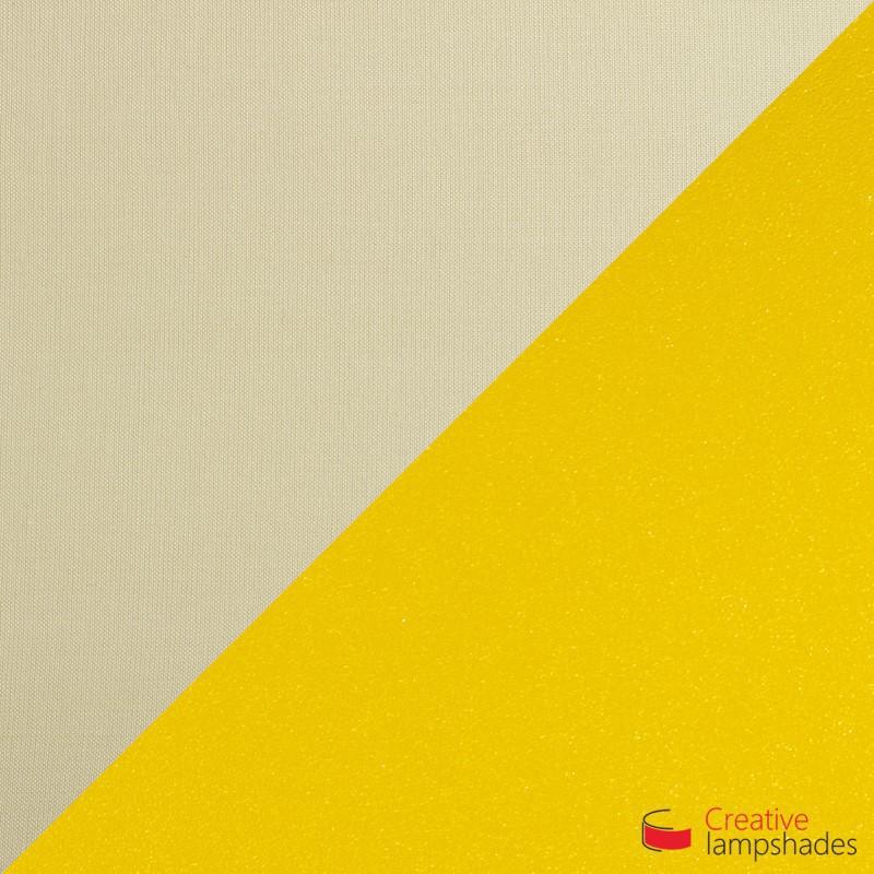Paralume Ventola Cilindrica a parete con Scatolina Teletta Nocciola int. Oro