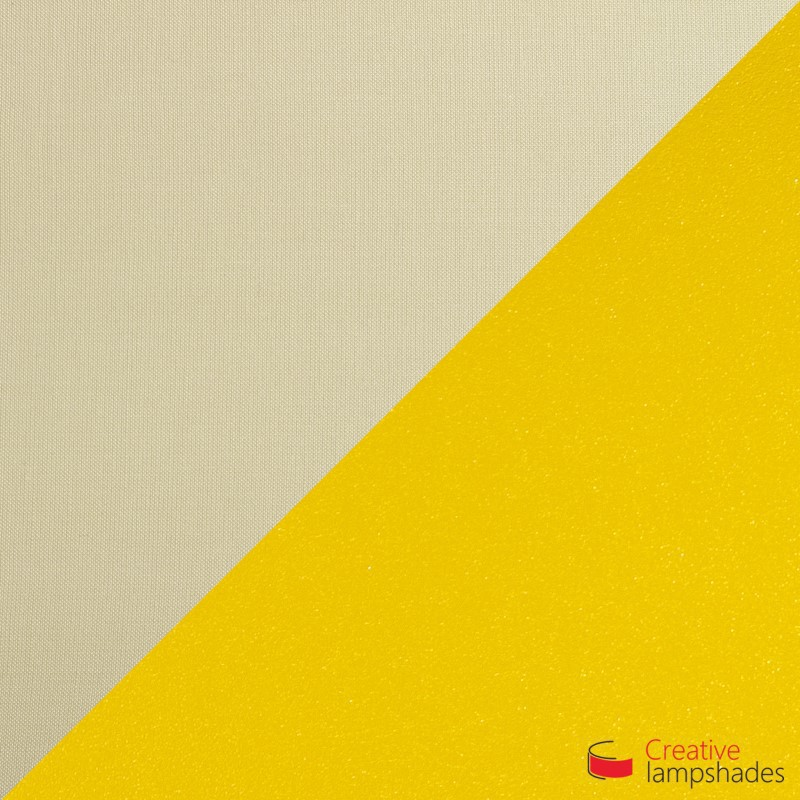 Half Cylinder Wall Lampshade Hazel Canvas Golden Inward with  box