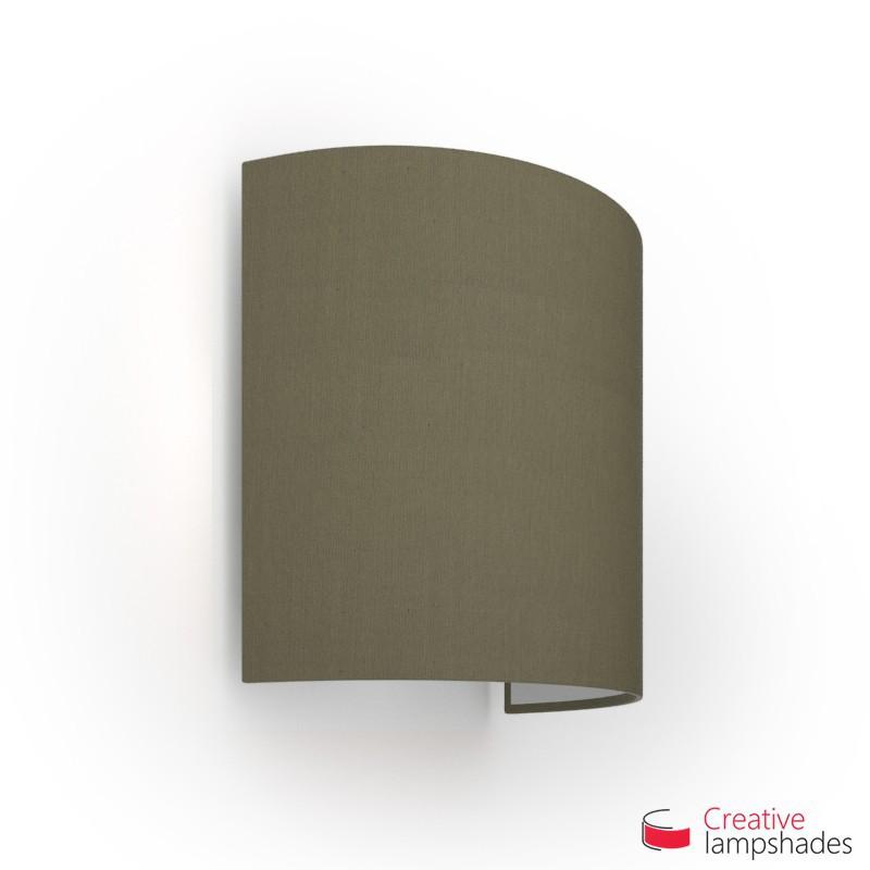 Paralume Ventola Cilindrica a parete con Scatolina Teletta Cenere