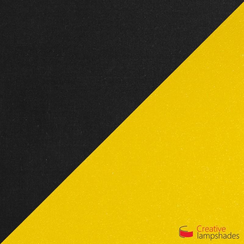Paralume Ventola Cilindrica a parete con Scatolina Teletta Nero int. Oro