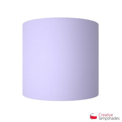Half Cylinder Wall Lampshade Lilac Canvas with  box