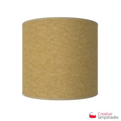 Half Cylinder Wall Lampshade Yellow Parchment with  box