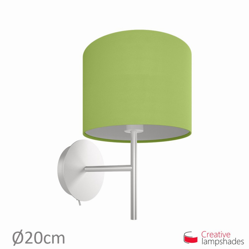 Pistachio green cinette cylinder lamp shade pistachio green cinette cylinder lamp shade paralume cilindro rivestimento cinette verde pistacchio aloadofball Choice Image